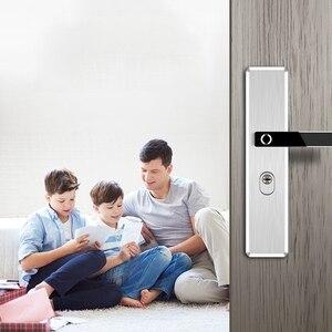Image 5 - Fechadura eletrônica de impressão digital, fechadura de porta inteligente em aço inoxidável, impressão digital, semicondutor, fechadura eletrônica para porta