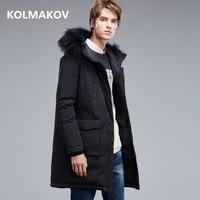 2018 winter coats Men's casual Raccoon collar Hooded 90% white Goose down down coats jackets Men's thick Down Jackets men