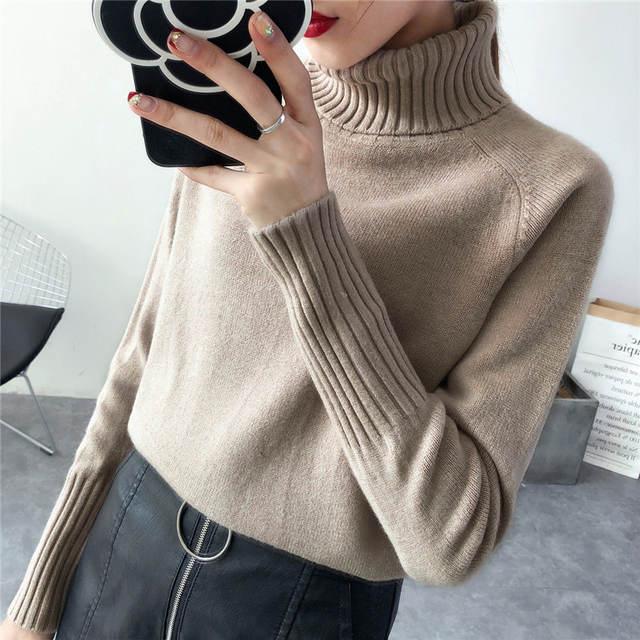 b72954e819 Online Shop TIGENA Women Turtleneck 2018 Winter Sweater Women Long Sleeve  Tricot Women Sweaters And Pullovers Female Jumper Winter Tops