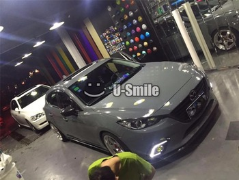 3 Layers High Quality Super Glossy Cement Grey Car Body Vinyl Wrap Film For Car Wrapping Vinyl Stickers