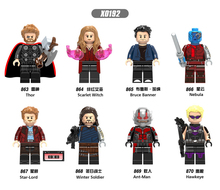 X0192 LegoINGly Avengers Captain Marvel Ant planet Super Hero The spider Iron Man The thor Ant people Wasp Toys Building Blocks single marvel avengers infinity war thor ant man and the wasp yellowjacket scarlet witch figure building blocks toy for children