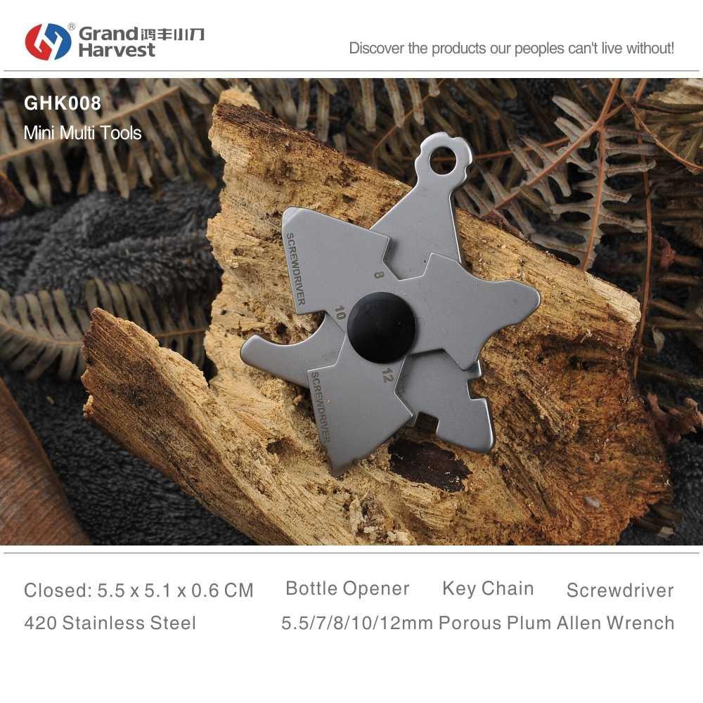 Grande colheita portátil multi ferramenta 2017 sobrevivência aço inoxidável falou chave allen chave fenda chave de fenda ferramentas bolso