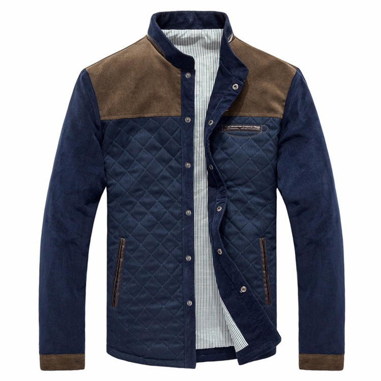 Men\'s Jackets and Coats Ouerwear Casual Patchwork Plus Size Slim Fit 2016 Brand New Cotton Polyester High Quality Men Jacket1