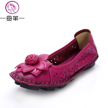 Summer time Lady Real Leather-based Flat sandals Leather-based Loafers Feminine Informal sandals Ladies Flats Non-slip backside ladies's sandals