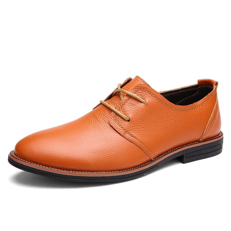 Sapatos Lace Genuíno Up Couro Grife Sapatas 2016 Homens brown Oxfords Black yellow Dos Vestido Sapatilha Casual De Formais Moda qB80gP