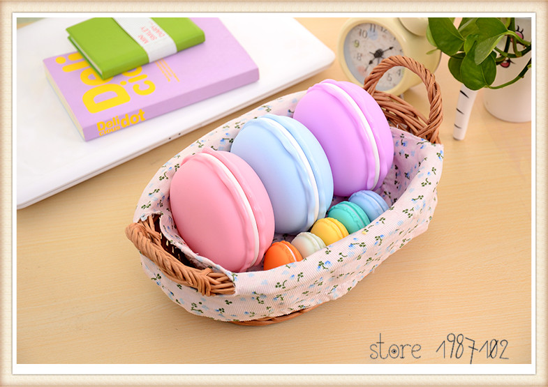 20pcs Candy Color Mini Earphone SD Card Macarons Bag Storage Box Case Carrying Pouch Sweet and Cute Wholesale