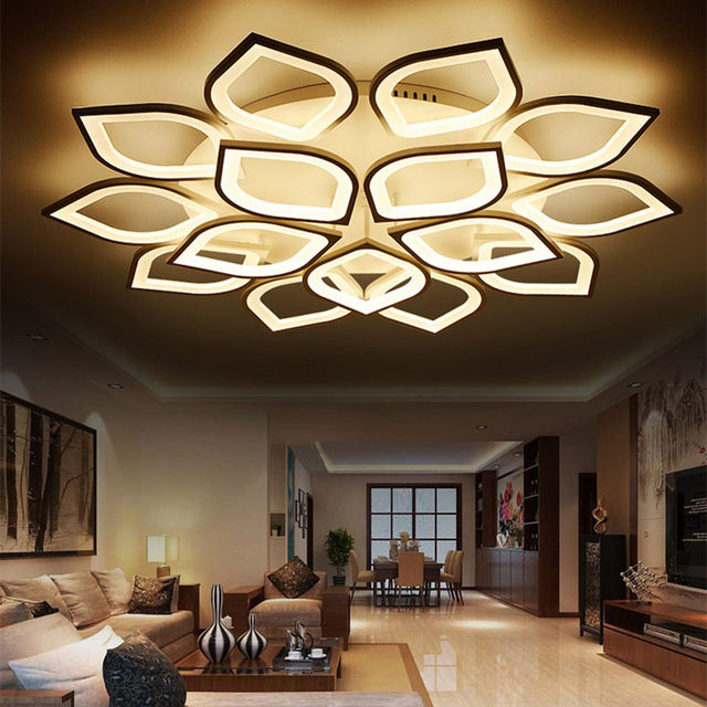 new acrylic modern led ceiling lights for living room bedroom plafond led home lighting ceiling lamp lamparas de techo fixtures - Living Room Hanging Lights