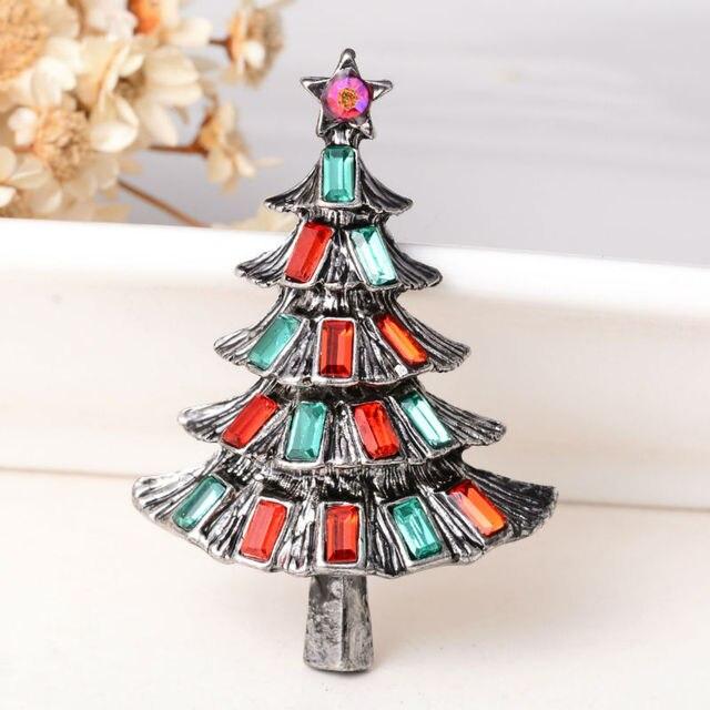 Фото модные рождественские подарки заколки и броши для женщин маленькие