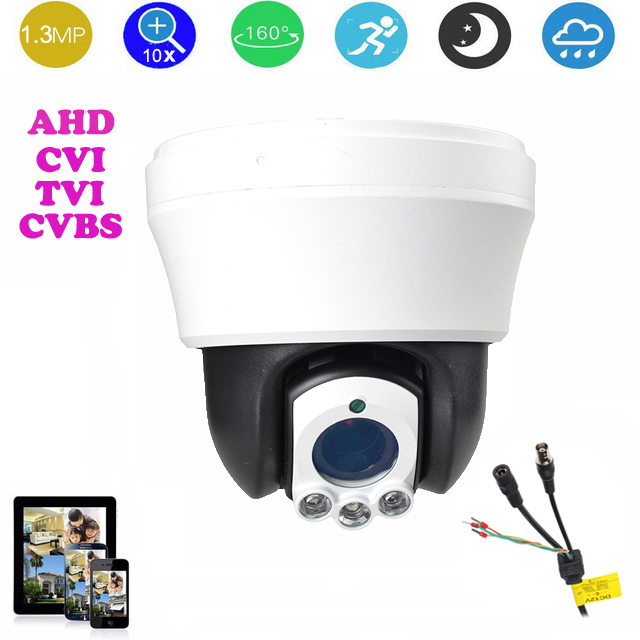 4-inch AHD/CVI/TVI/CVBS HD PTZ camera Middle Speed dome CVI Camera 1.3MP 10x Auto zoom IR 30m TVI outdoor camera 1080p ptz dome camera cvi tvi ahd cvbs 4 in 1 high speed dome ptz camera 2 0 megapixel sony cmos 20x optical zoom waterproof