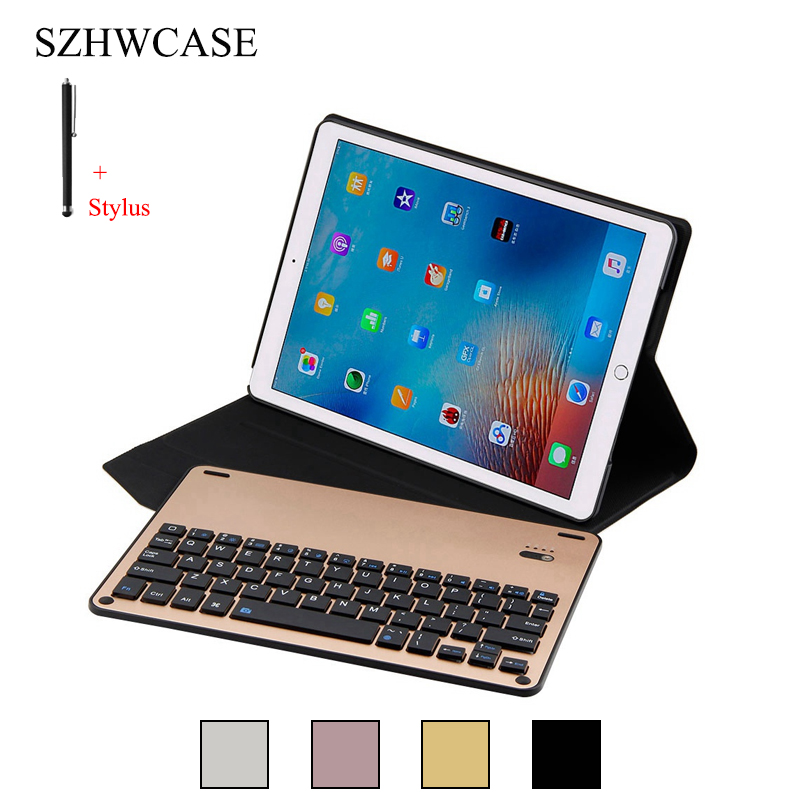 For iPad Pro 10.5 inch Wireless Bluetooth Keyboard Case For iPad Pro 10.5'' Tablet Flip Leather Stand Cover Capa Fundas+Stylus leather case flip cover for letv leeco le 2 le 2 pro black