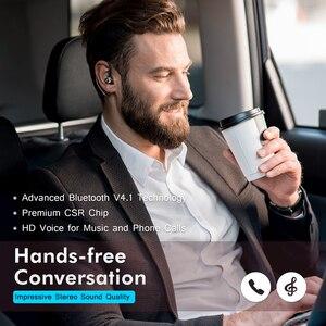 Image 2 - Mpow BH028 Auricolare Bluetooth Singolo Cuffia Senza Fili Con 6 Ore Tempo di Gioco Chiamate in Vivavoce Per Il Conducente Dellautomobile di Stile di Affari