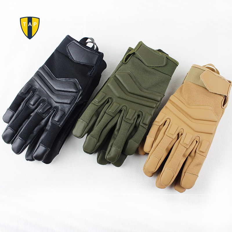 Motorcycle Racing Gloves Tactical Motor Sports Military Army Leather - Sportswear and Accessories - Photo 6