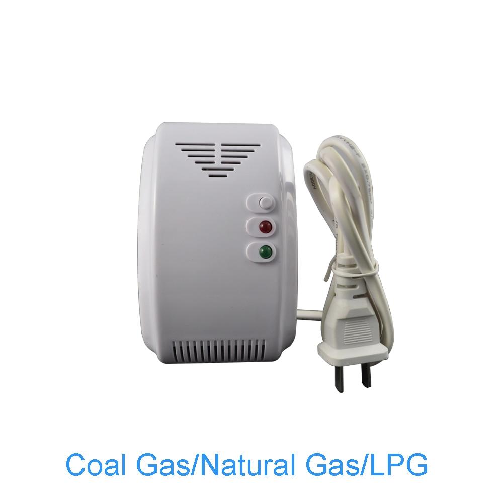 (10 PCS) 220VAC Standalone Natural Gas Alarm Coal gas Leaking detector NC/NO relay Output can network Fire Alarm sensor