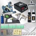Kit Completo Del Tatuaje de Calidad superior Máquina de Colorante Tintas Apretones de Las Agujas Consejos Regalo Libre Tattoo Supply