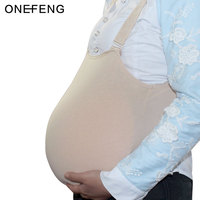 ONEFENG 4000 4600g Big Silicone Artificial Belly Fake Pregnant Belly with Cloth Bag Jelly Belly for Unisex