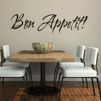 Vinyl Wall Stickers Quote Bon Appetit Dinning Room Decor Kitchen Decals Art
