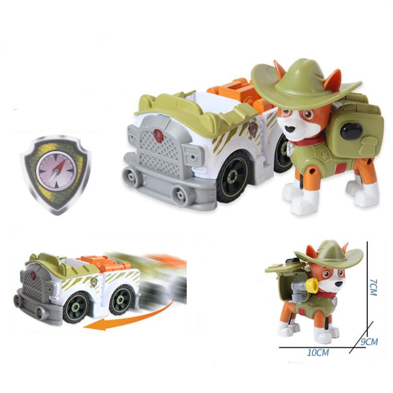 Paw Patrol Dog Toys Tracker Jungle tracking Ambulance Rare Dog Cool Patrulla Canina Action Figures Juguetes Children Best Gift in Action Toy Figures from Toys Hobbies
