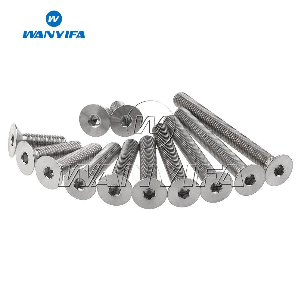 4pcs M8 x 15//20//25//30//35//40//45//50//60//70mm Titanium Bolts Socket Cap Screws