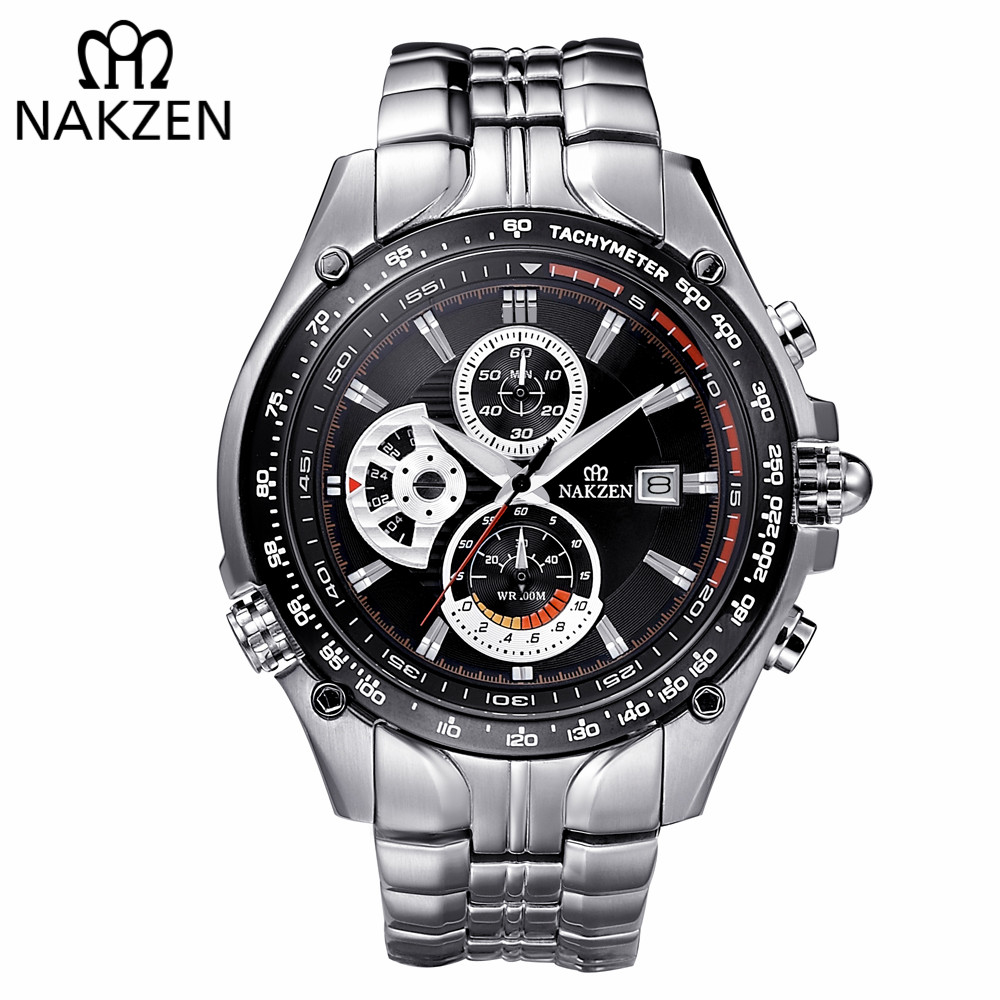 NAKZEN Men Wrist Watch Sport Luminous Mens Quartz Watch Male Multifunction Waterproof 100m Watches Clock relogio masculino amuda mens sport watch led gold big face quartz watch men waterproof wrist watch male watches clock relogio masculino