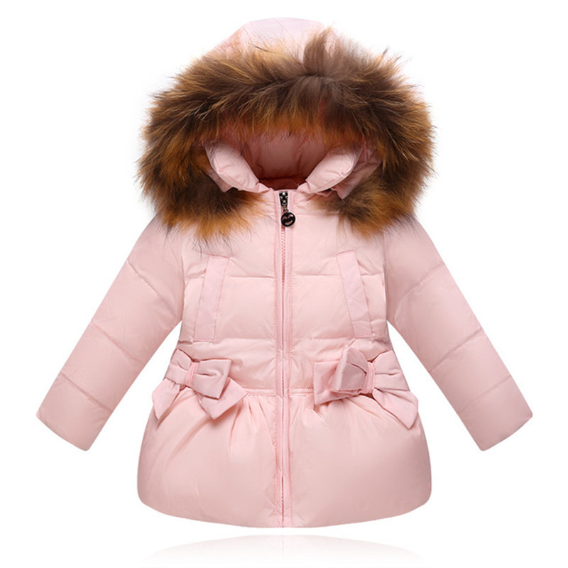Baby Girl Jackets Bow Tie Autumn Winter Jacket Kids Warm Hooded Children Outerwear Coats Boys Girls Coat Child Clothes недорого