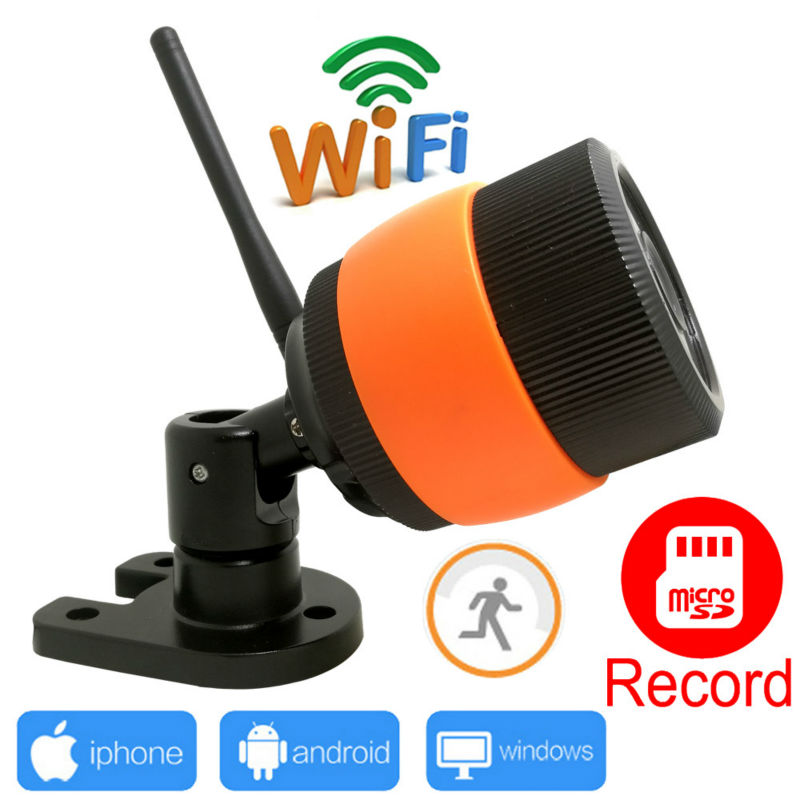 ip camera 720p wifi support micro sd record font b wireless b font outdoor waterproof cctv