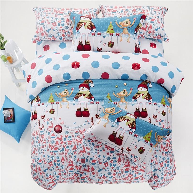 christmas gift bedding set king queen twin size cartoon quilt duvet cover kids bed sheet bedspread bedroom queen sets kids twin