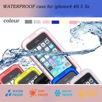 Topsale Premium IP68 Waterproof Durable Shockproof Phone Cover Skin Case For Apple Iphone 4 4S 5