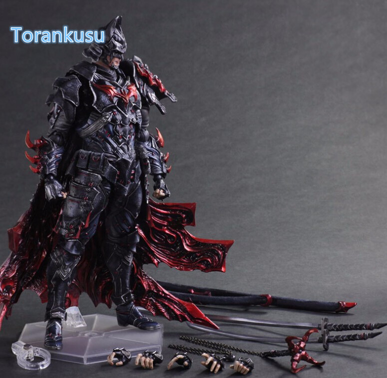 Bat Man Action Figure Play Arts Kai Bushido Model Toy 270MM Anime Movie Bat Man Timeless Bushido Playarts Kai Figure Toys PA05 devil may cry 3 action figure toys playarts kai anime toy movie dante play arts kai 25cm collection model