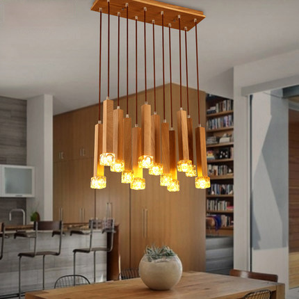 Nordic Solid Wood Pendant Lights Contracted Pastoral Style Modern Lighting Restaurant Wood Pendant Light Art Deco Lighting nordic style loft hanging lamp creative restaurant pendant light contracted metal pendant lights bar art deco lighting