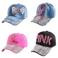 new trendy pink color letter casual girl women beauty luxury baseball caps hats summer jean brand snapback hat woman casquette