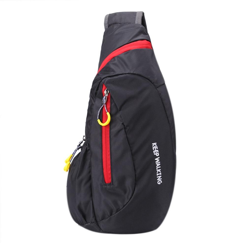 Waterproof Nylon Chest Bag Men Women Portable Running Shoulder Bag Cycling Running Hiking Sports Bags Mochila Bolsas Feminina