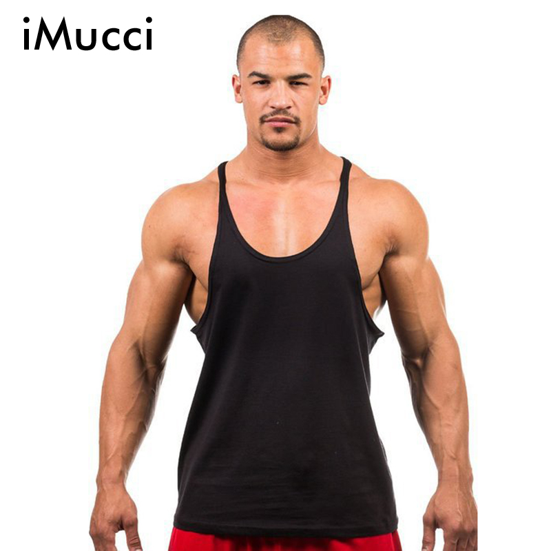 iMucci China Post Air Mail Shipping Golds Stringer Tank Top Men Bodybuilding Fitness Mens Shirt Vests Cotton Muscle Singlets