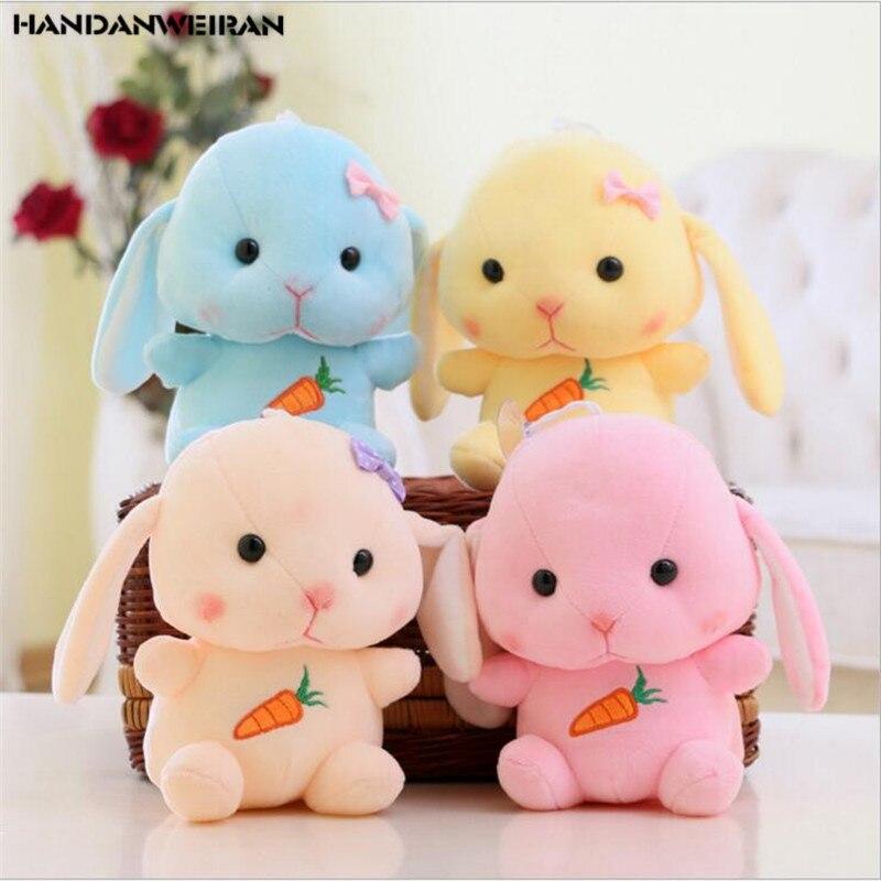 1PCS 20cm Cute Long Eared Rabbit Soft Toy Bunny Doll Cloth Doll Small Gift Children Toys Girlfriend Gift HANDANWEIRAN