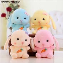 1PCS 20cm cute long-eared rabbit soft toy Bunny doll cloth doll small gift Children toys Girlfriend gift HANDANWEIRAN