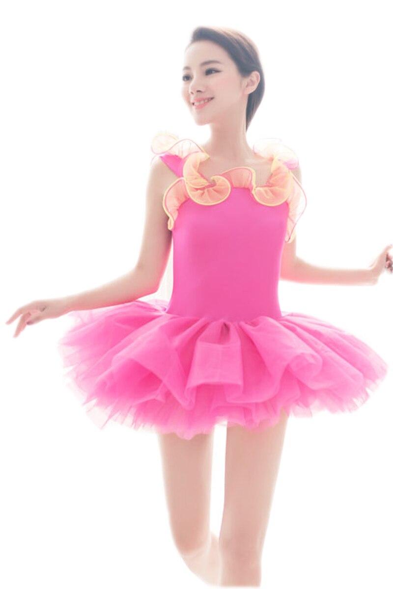 Violetinė oranžinė mėlyna geltona raudona vaikai mergina suknelė Profesionalus baleto tutu vaiko šokių drabužiai moterų leotard suknelė Tulle princesė