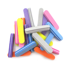 Image 4 - 100 sztuk gąbka Nails polerka pilniki profesjonalna marka pilnik do paznokci UV żel do paznokci narzędzie kolorowe papier ścierny wapno Ongle Para zestaw do manikiuru