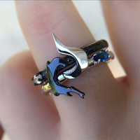 925 Jewelry Sterling Silver Engagement Rings LoL Hero Master Couples Lovers Rings Kindred Ring Game Jewelry