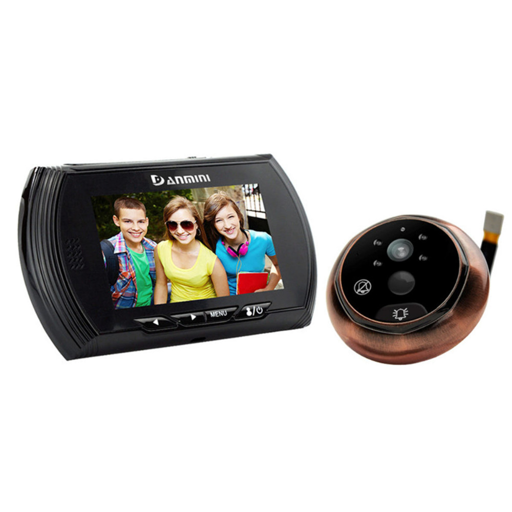 DANMINI 4.3 Inch Color LCD Digital Video Door Phone System Door Peephole Viewer Doorbell Security Camera Night Vision Monitor homefong 4 inch monitor lcd color video record door phone doorbell intercom system night vision 1200tvl high resolution