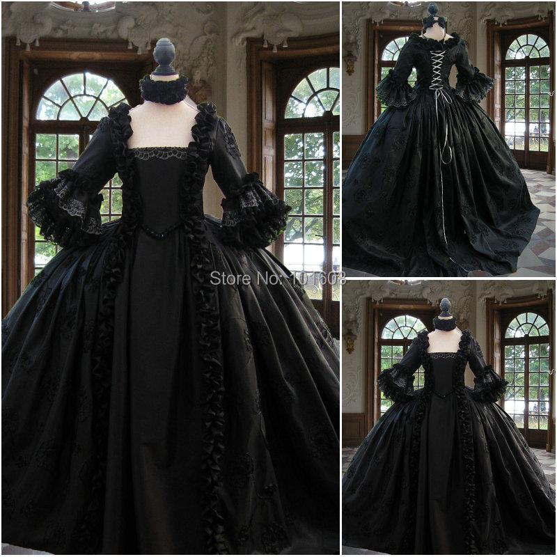 2017 nuevo Victorian Corset Gótico / Guerra Civil Southern Belle Ball vestido vestido Halloween vestidos US 4-16 R-122