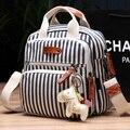 2017 Подгузник сумка многофункциональный рюкзак женская сумочка женская Толстый холст multi-карман Мумия пакет