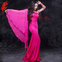 Master Performance Belly Dance Clothes Elegant Belt Sleeves Belly Dancing Dress Lady Belly Dance Dresses Comfortable