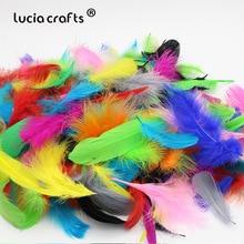 Lucia crafts 48 шт./лот 4-16 см серьги ювелирные аксессуары натуральный фазан перо значение пакет для искусства и ремесла H0511