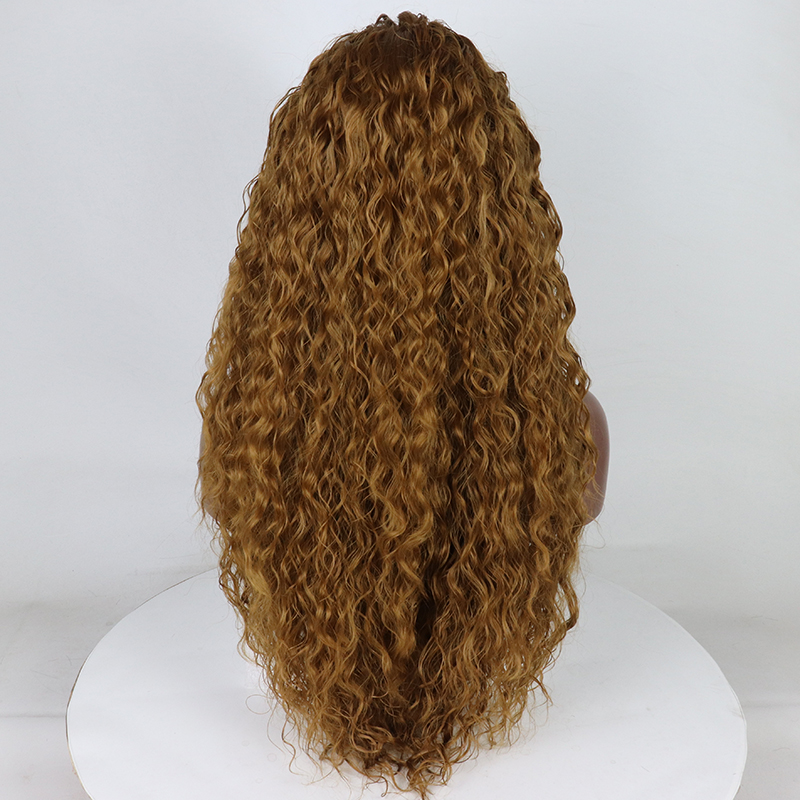 Fantasy Beauty Curly Lace Front Wigs For Female Synthetic Heat Resistance Honey Blonde Wigs For Women