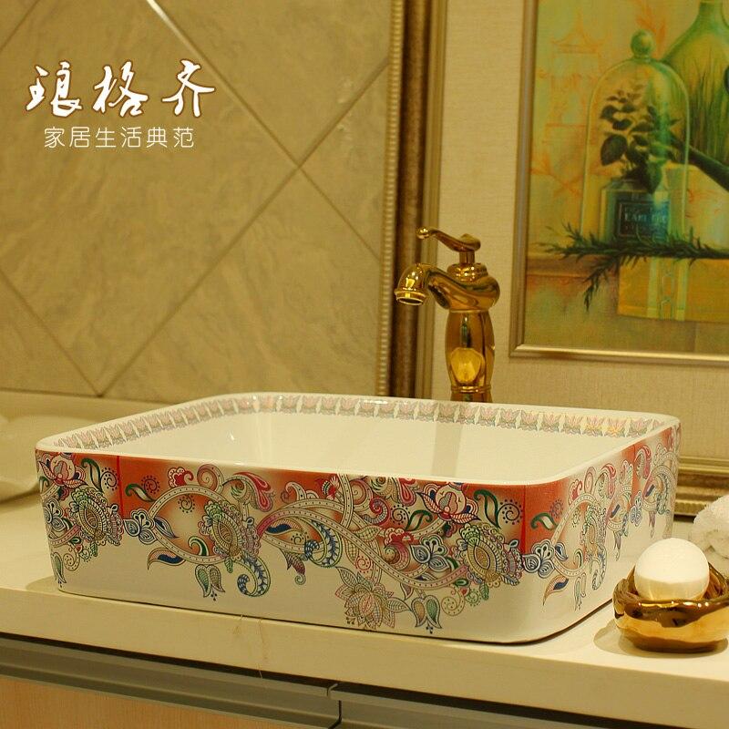 fashionable ceramic sanitary wash basin Dunhuang flower art basin free shippingfashionable ceramic sanitary wash basin Dunhuang flower art basin free shipping