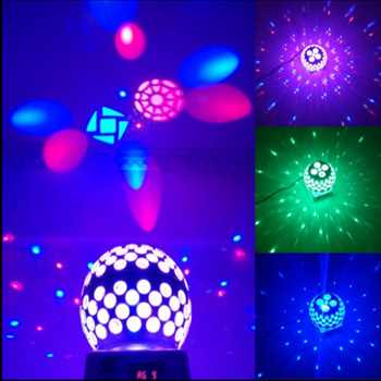 AUCD 360 Degree Rotated Patterns RGBW LED Magic Crystal Ball Lamp Disco DJ Party DMX Moving Ray Projector Show Stage Lights MB-3