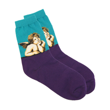 Fashion Art Cotton Crew Socks Painting Character Pattern for Women Men Harajuku Design Funny Novelty Comfortable Breathable Sock