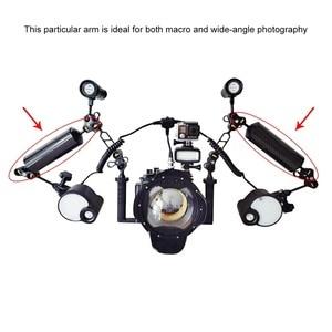 Image 5 - PULUZ כדור צף 10.8 inch 27.5 cm אורך 80mm קוטר כפול כדורי פחמן סיבי צף זרוע, כדור קוטר: 2.5 cm