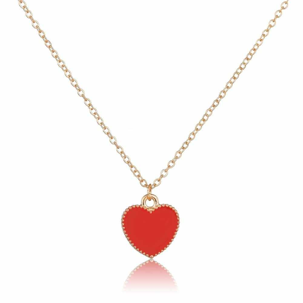 UNB Gold Color Love Number 8 Endless Heart Necklace & Pendant For Women Forever Eternal Friendship Infinity Fashion Jewelry