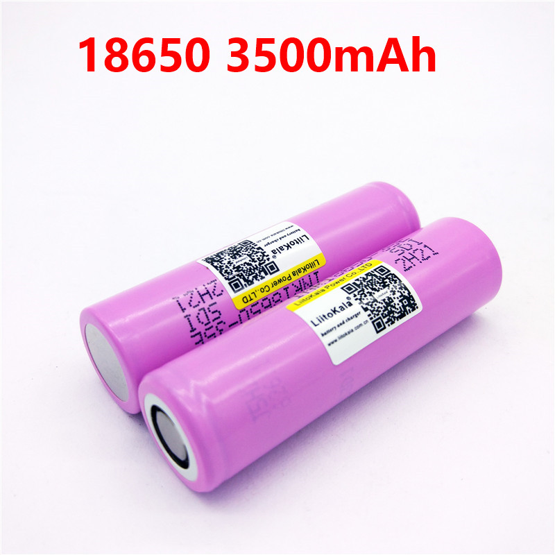 2PCS liitokala 3500mAh 13A discharge INR18650 35E For INR18650-35E 18650 battery Li-ion 3.7v rechargable Battery цена
