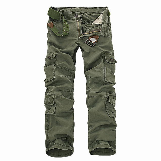 SAF-New Casual Men's Pants Military Army Camo Combat Work Trousers Army green